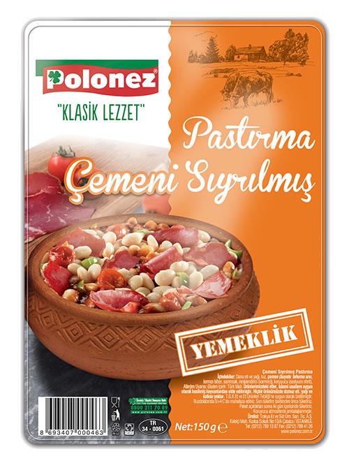 Polonez Çemeni Sıyrılmış Pastırma – 150 gr