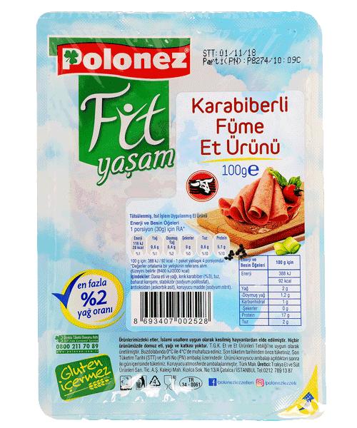 Polonez Biberli Füme Et – 100 gr
