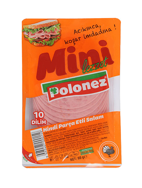 Polonez Hindi Parça Etli Salam – 60 gr