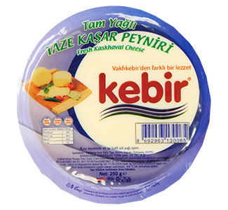 Tam Yağlı Taze Kaşar Peyniri 250gr